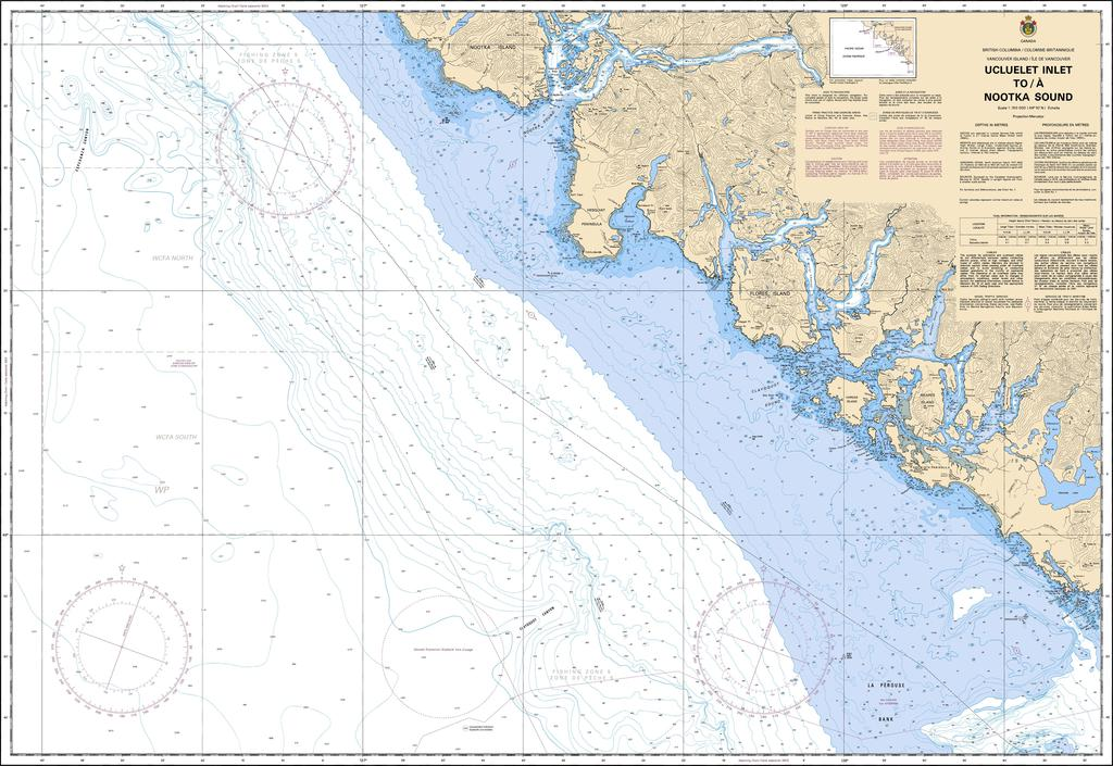CHS Chart 3603: Ucluelet Inlet to/à Nootka Sound