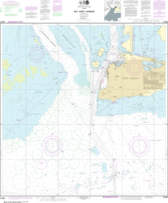 NOAA Chart 11447: Key West Harbor