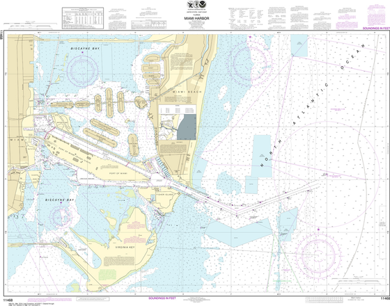 NOAA Chart 11468: Miami Harbor