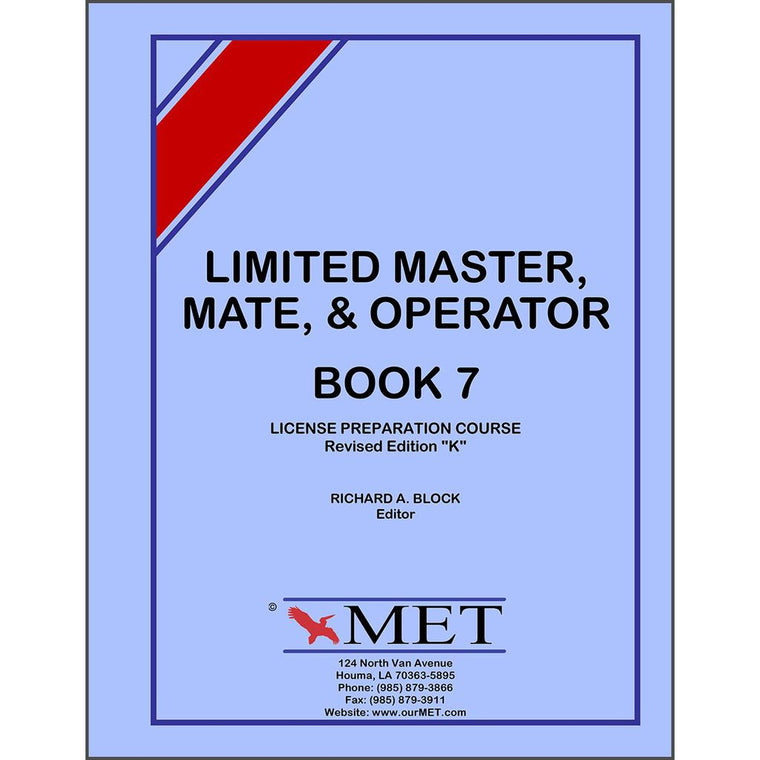 Limited Master Mate & Operator License Book 7