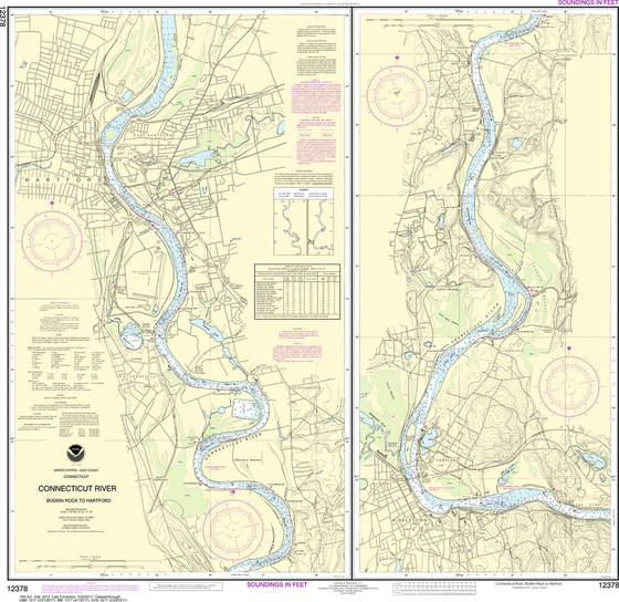 NOAA Chart 12378: Connecticut River - Bodkin Rock to Hartford