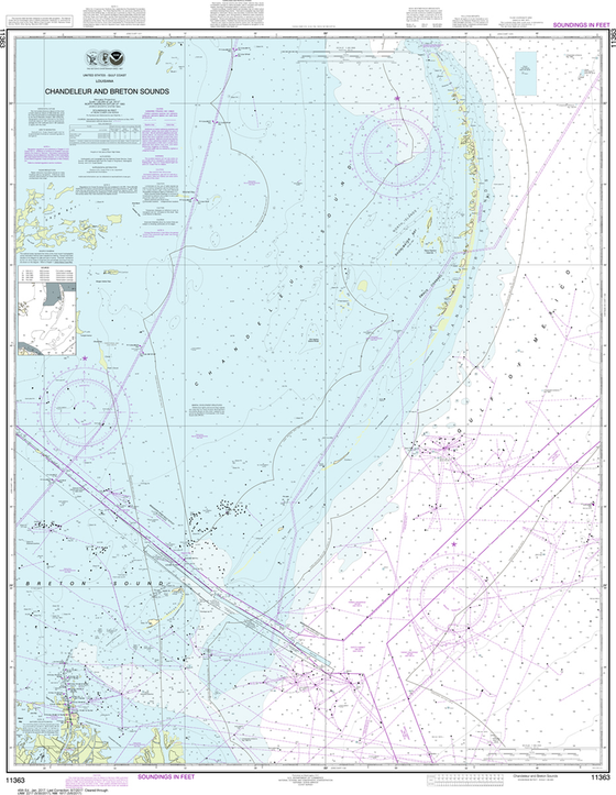 NOAA Chart 11363: Chandeleur and Breton Sounds