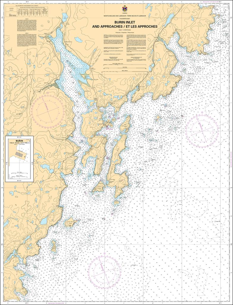 CHS Chart 4616: Burin Harbours and Approches / et les approches