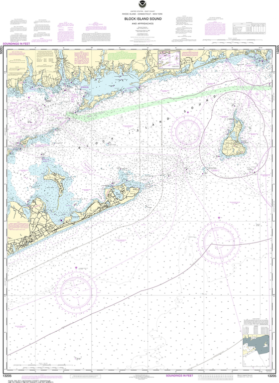 NOAA Chart 13205: Block Island Sound and Approaches