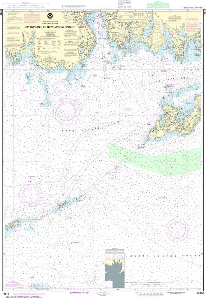 NOAA Chart 13212: Approaches to New London Harbor