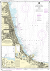 NOAA Chart 14927: Chicago Lake Front, Gary Harbor