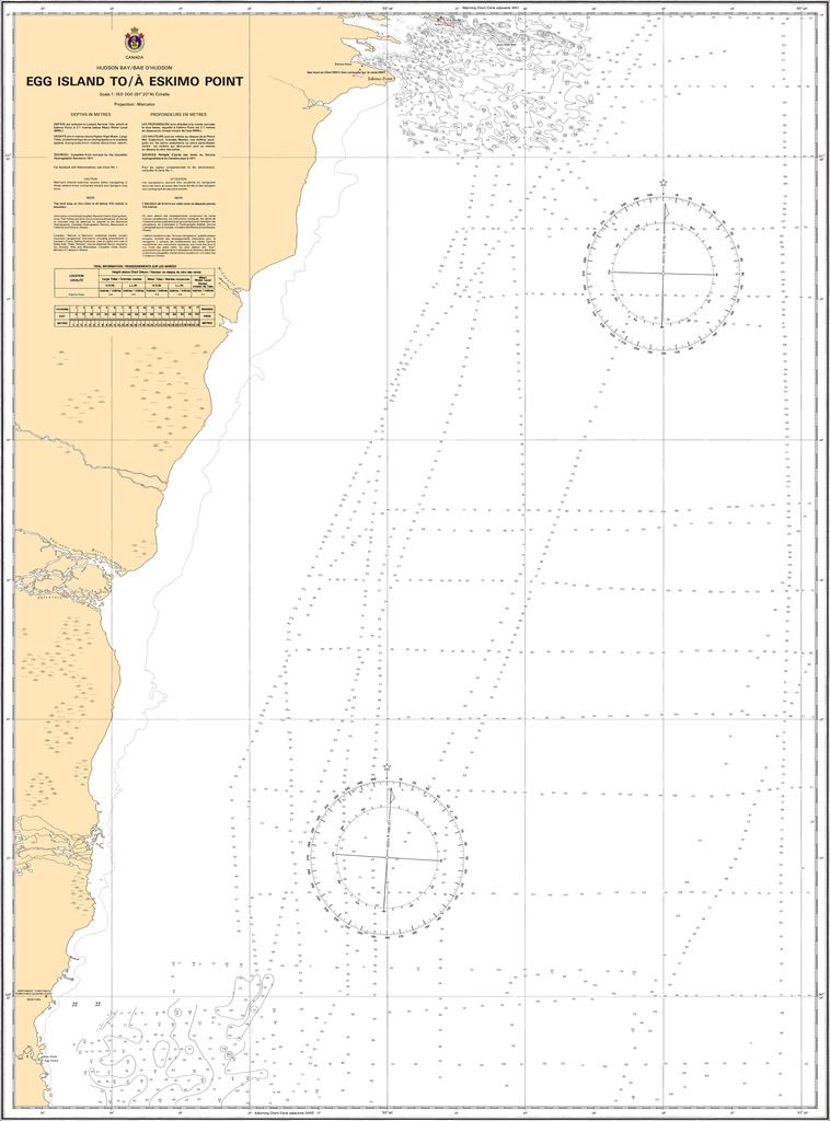 CHS Chart 5399: Egg Island to/à Eskimo Point