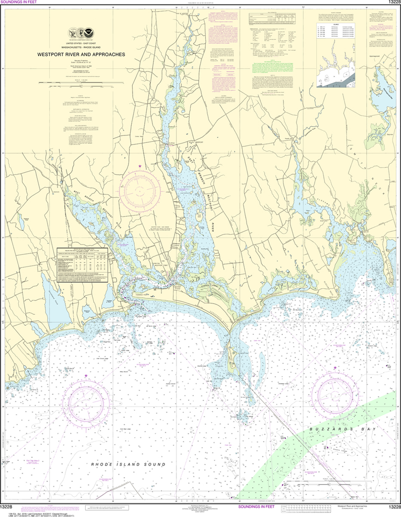 NOAA Chart 13228: Westport River and Approaches