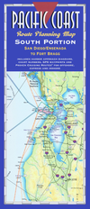 Pacific Coast Route Planning Map: South Portion, San Diego/Ensenada to Fort Bragg