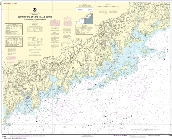 NOAA Chart 12368: North Shore of Long Island Sound - Sherwood Point to Stamford Harbor