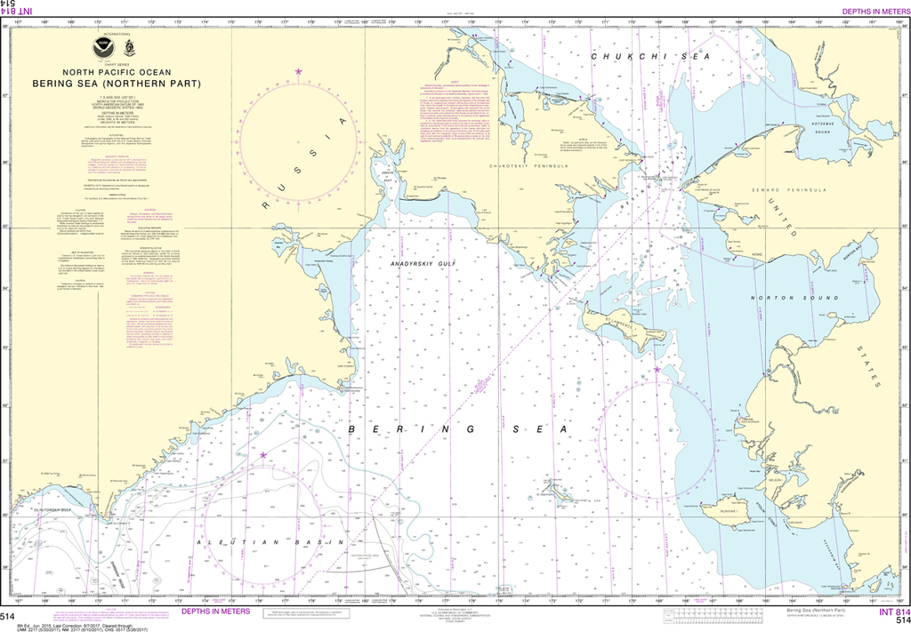 NOAA Chart 514: Bering Sea - Northern Part