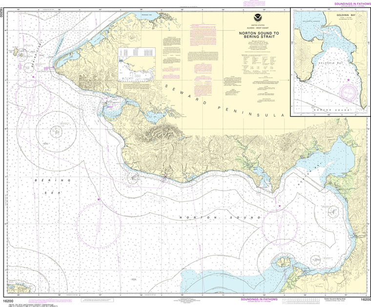 NOAA Chart 16200: Norton Sound, Golovnin Bay