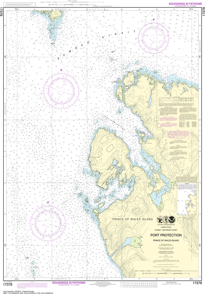 NOAA Chart 17378: Port Protection, Prince of Wales Island