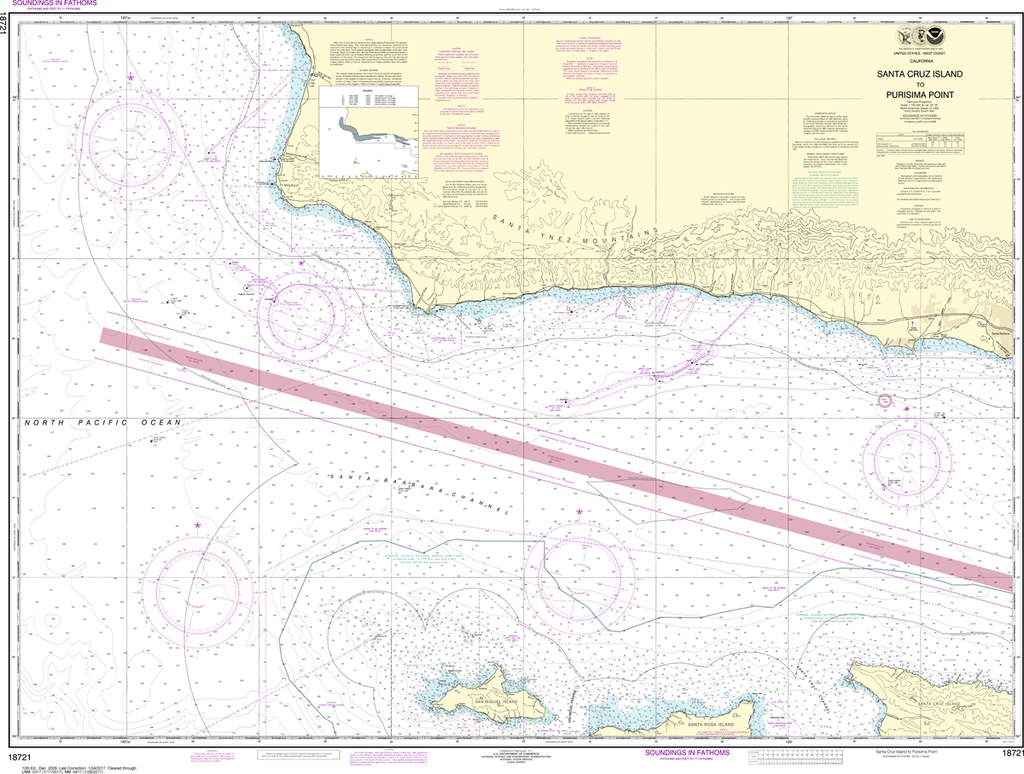 NOAA Chart 18721: Santa Cruz Island to Purisima Point