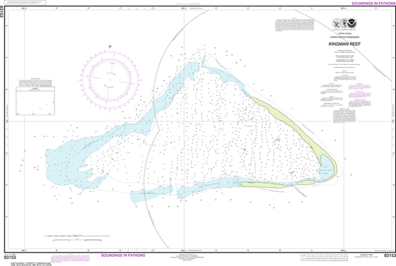 NOAA Chart 83153: United States Possesion - Kingman Reef