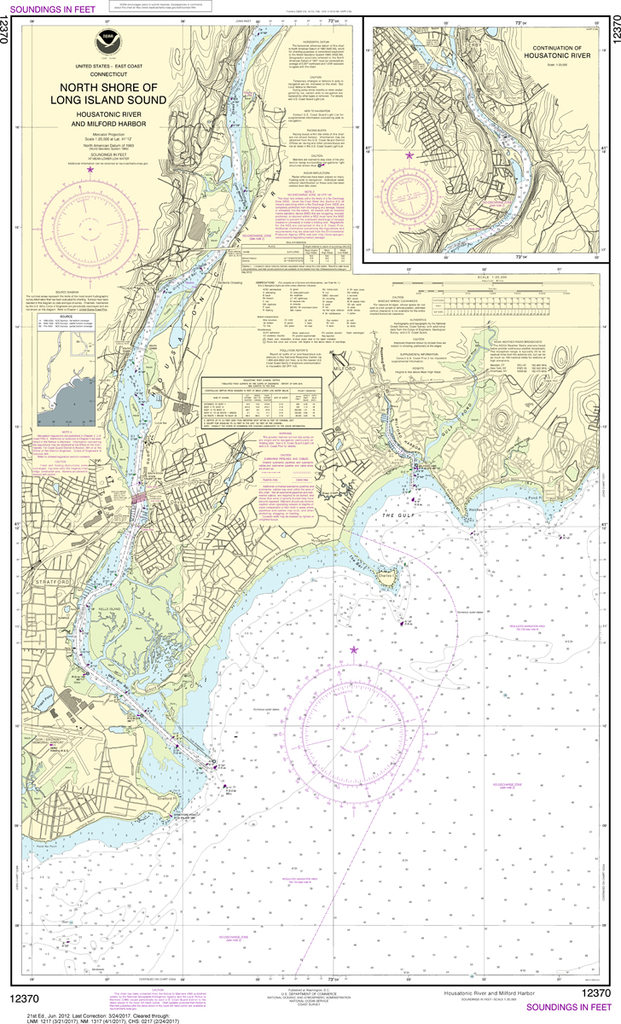 NOAA Chart 12370: North Shore of Long Island Sound - Housatonic River and Milford Harbor