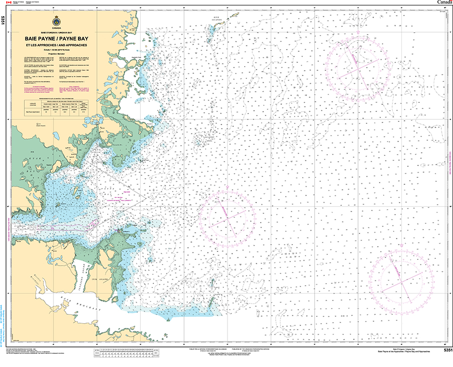 CHS Print-on-Demand Charts Canadian Waters-5351: Payne Bay and Approaches, CHS POD Chart-CHS5351
