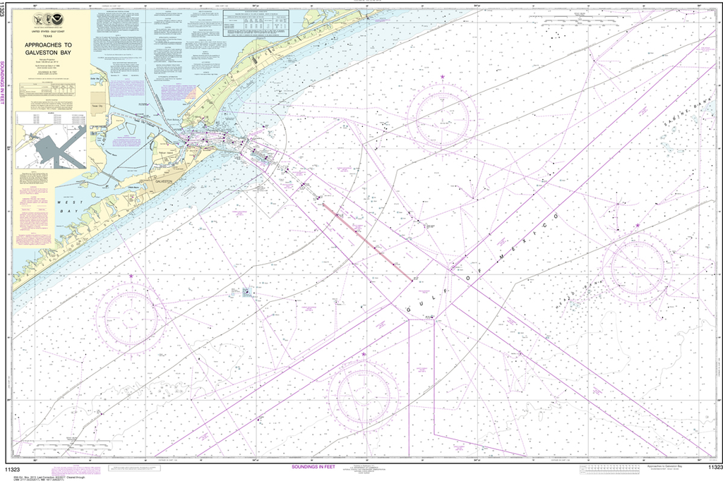NOAA Chart 11323: Approaches to Galveston Bay