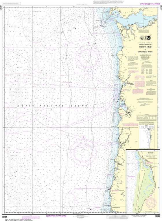 NOAA Chart 18520: Yaquina Head to Columbia River, Netarts Bay