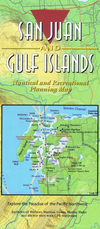 San Juan Islands and Gulf Islands Cruising Sailing Route Planning Map by Reanne Hemingway-Douglass and Don Douglass