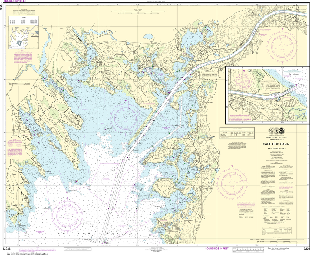 NOAA Chart 13236: Cape Cod Canal and Approaches