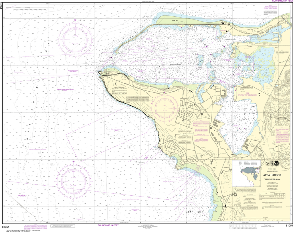NOAA Chart 81054: Mariana Islands - Apra Harbor, Guam