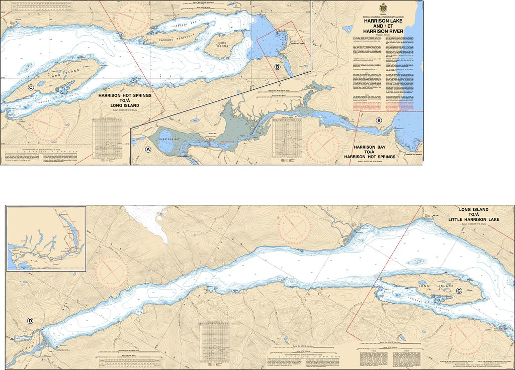 CHS Chart 3061: Harrison Lake and/et Harrison River
