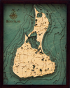 WoodChart of Block Island, Rhode Island