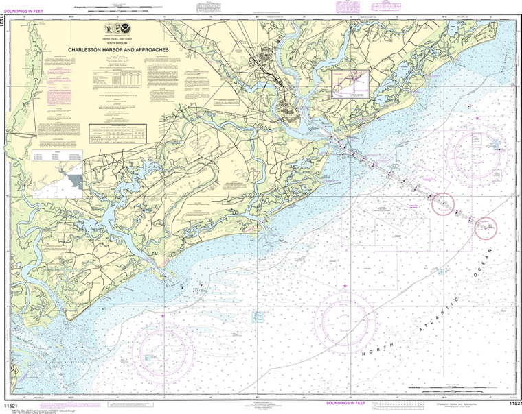 NOAA Chart 11521: Charleston Harbor and Approaches