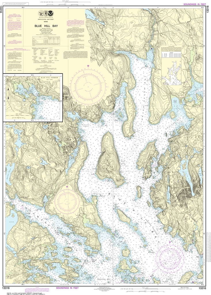 NOAA Chart 13316: Blue Hill Bay, Blue Hill Harbor
