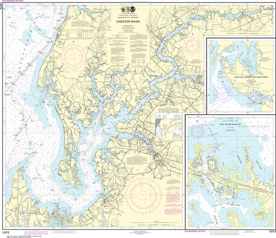 NOAA Chart 12272: Chester River, Kent Island Narrows, Rock Hall Harbor and Swan Creek