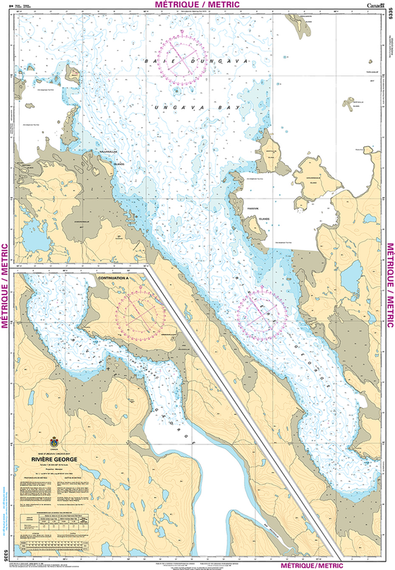 CHS Print-on-Demand Charts Canadian Waters-5335: RiviЏre George, CHS POD Chart-CHS5335