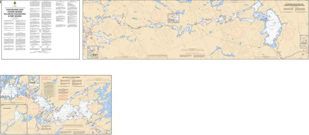 CHS Chart 2029: Couchiching Lock to Port Severn / Écluse de Couchiching a Port Severn