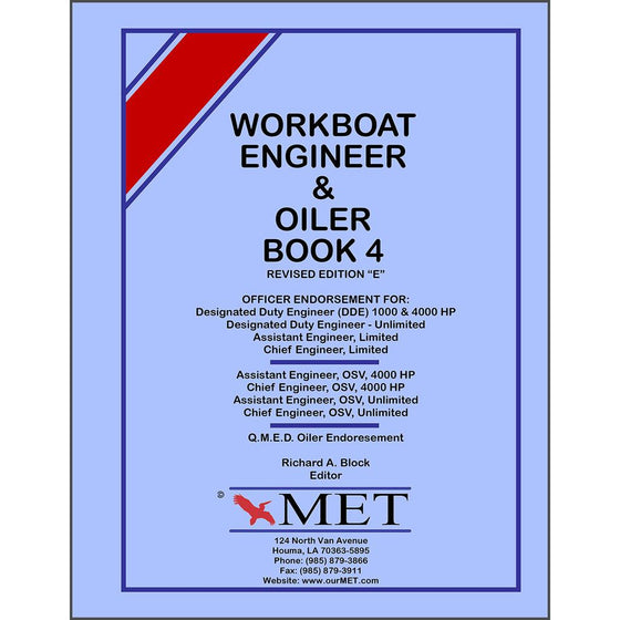 Workboat Engineer Book 4