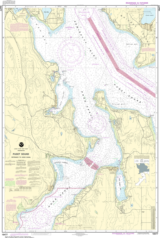 NOAA Chart 18477: Puget Sound - Entrance to Hood Canal