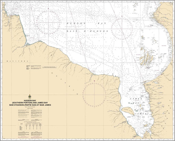 CHS Chart 5003: Hudson Bay (Southern Portion) and James Bay/Baie DHudson (Partie Sud) et Baie James