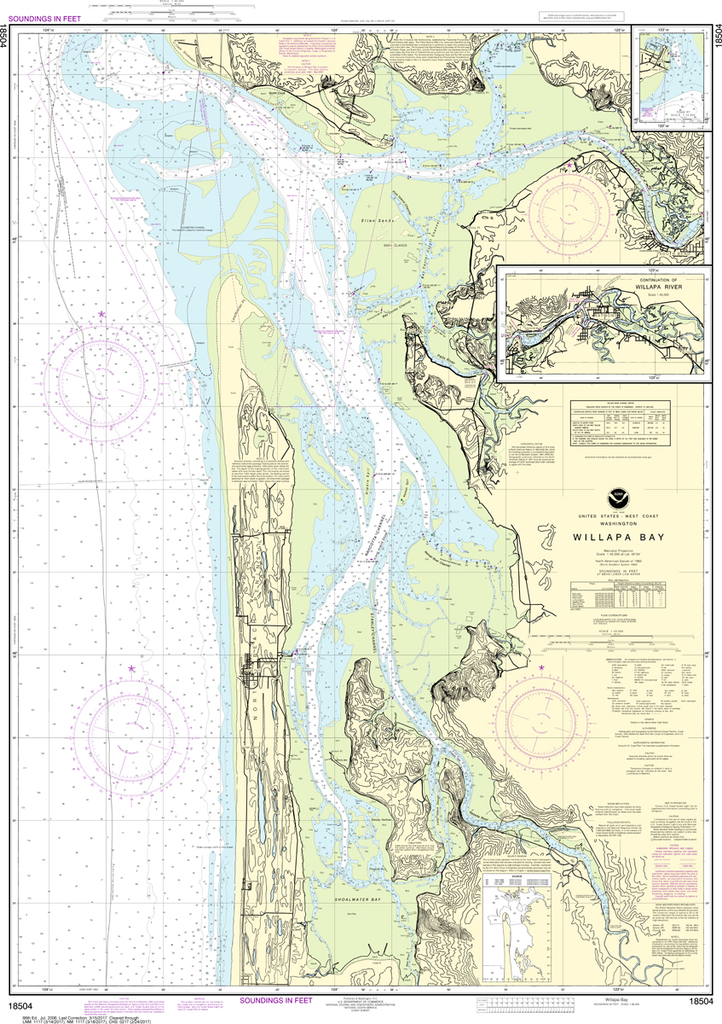 NOAA Chart 18504: Willapa Bay, Toke Point