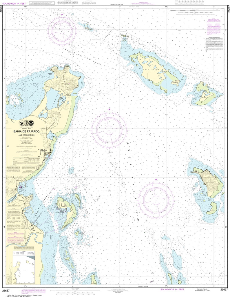 NOAA Chart 25667: Bahia de Fajardo and Approaches