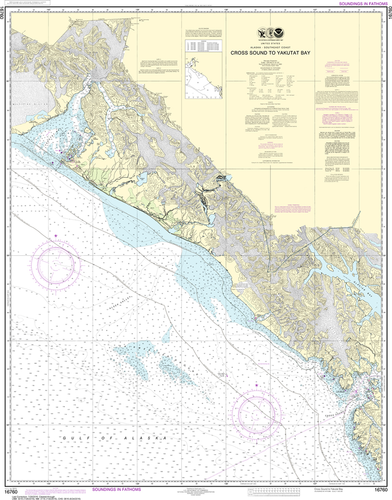 NOAA Chart 16760: Cross Sound to Yakutat Bay