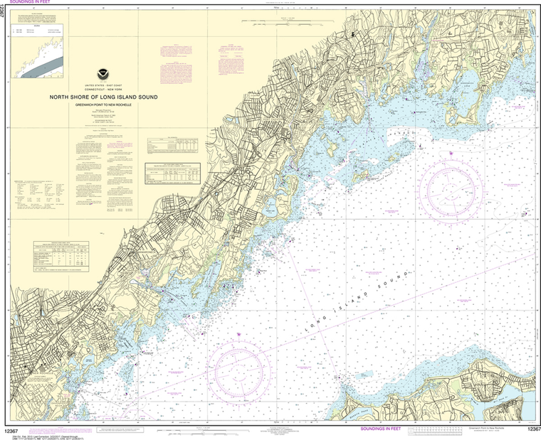 NOAA Chart 12367: North Shore of Long Island Sound - Greenwich Point to New Rochelle