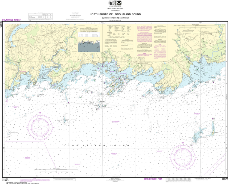 NOAA Chart 12373: North Shore of Long Island Sound - Guilford Harbor to Farm River