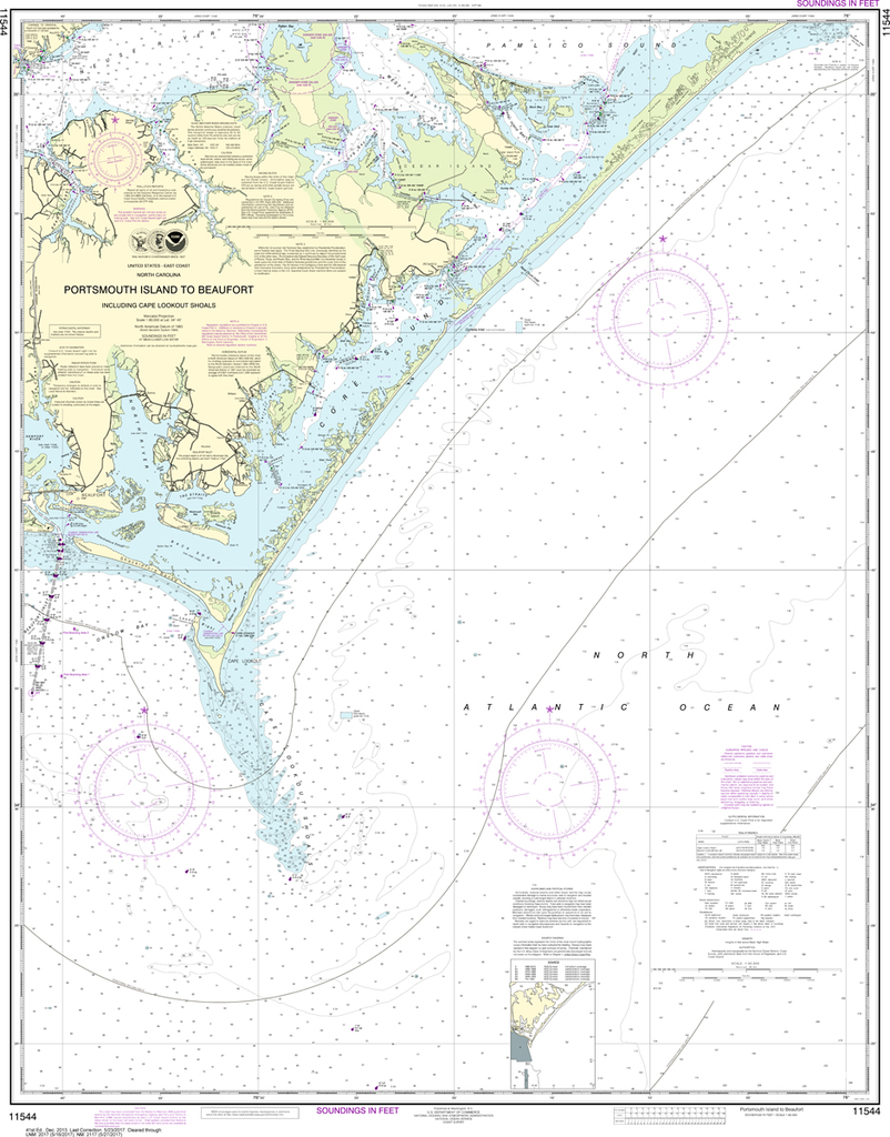 NOAA Chart 11544: Portsmouth Island to Beaufort, Including Cape Lookout Shoals