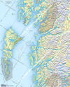 Northern Portion of the Inside Passage Route Planning Map includes the Queen Charlotte Islands, Hecate Strait, Dixon Entrance, and Northern British Columbia Coast