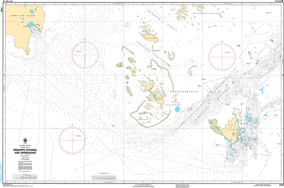 CHS Print-on-Demand Charts Canadian Waters-7725: Requisite Channel and Approaches, CHS POD Chart-CHS7725