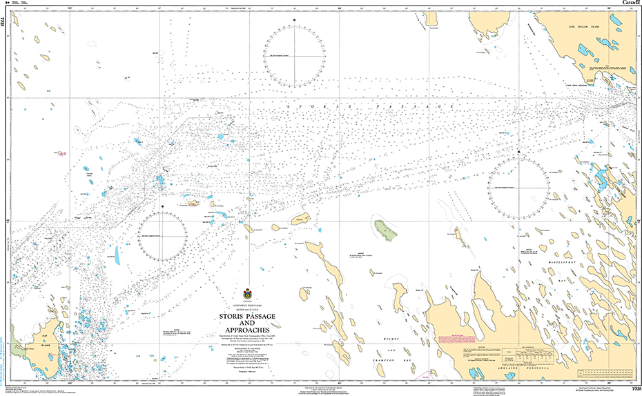 CHS Print-on-Demand Charts Canadian Waters-7731: Storis Passage and Approaches, CHS POD Chart-CHS7731