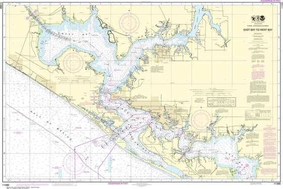 NOAA Chart 11390: Intracoastal Waterway - East Bay to West Bay