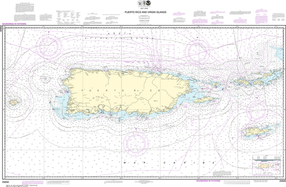 NOAA Chart 25640: Puerto Rico and Virgin Islands