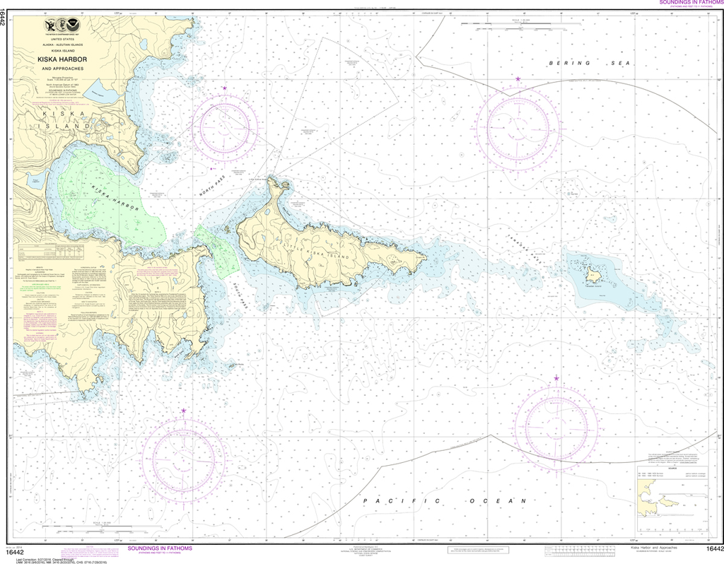 NOAA Chart 16442: Kiska Harbor and Approaches