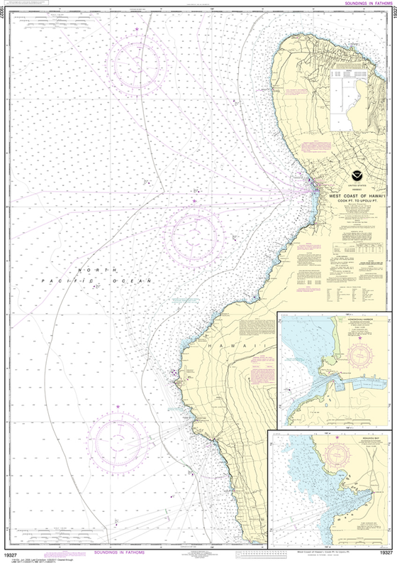 NOAA Chart 19327: West Coast of Hawai'i - Cook Point to Upolu Point, Keauhou Bay, Honokohau Harbor