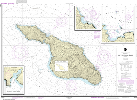 NOAA Chart 18757: Santa Catalina Island, Avalon Bay, Catalina Harbor, Isthmus Cove